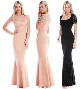Goddess-Short-Lace-Sleeve-Marcella-Evening-Maxi-Fishtail-Dress-Prom-Bridesmaid