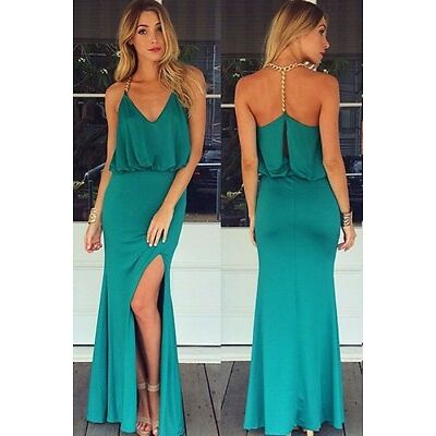 Boldgal Turquoise Sexy Party Western Halter Fashion Women Maxi Dress