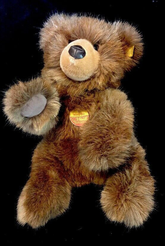 STEIFF MOLLY BAR BEAR 0330 32 EXCELLENT CONDITION GERMANY Signed