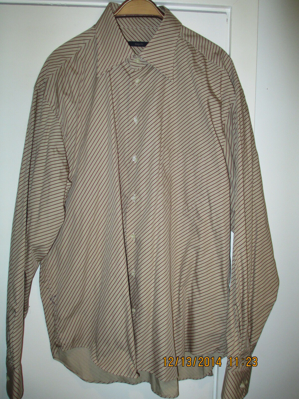DESIGNER  BAGUTTA    COTTON SHIRT. MADE IN ITALY. EU SIZE -45, US -  XL  18