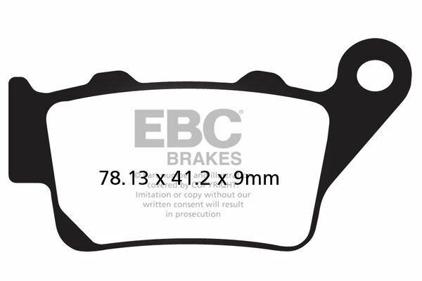 POUR KTM RC 390 (4T) 15 EBC fritté Set Plaquettes Droit