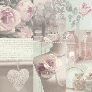 Charlotte-Floral-Papier-Peint-Fard-arthouse-665200-Neuf-Gris-Rose