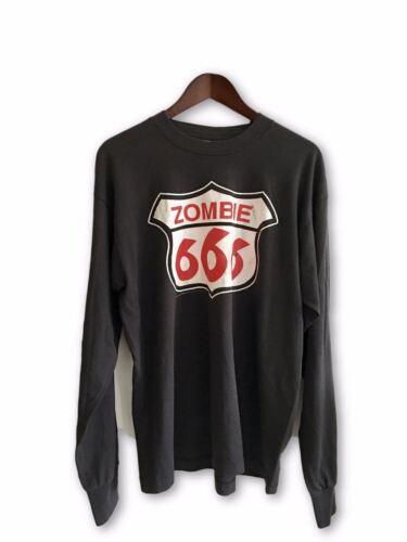 90s vtg Zombie 666 Longsleeve XL T-Shirt Rob Zombi