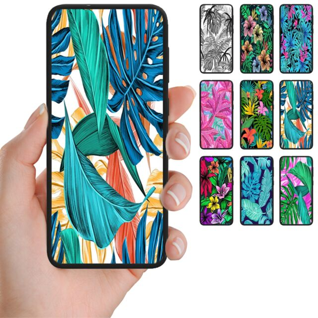 For Huawei Series - Tropical Leaf Pattern Print Mobile Phone Back Case Cover