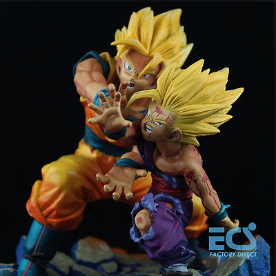 Dragonball Z KAI Father-Son Goku Gohan Kamehameha Statue Figure Diorama Anime