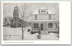 Strong-Maine-Methodist-Church-New-Parsonage-in-Winter-American-Square-House-1910