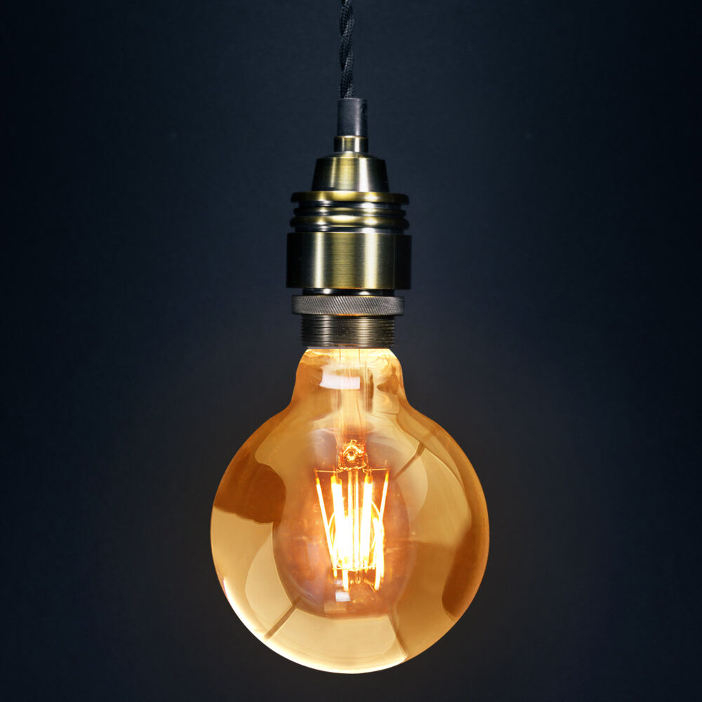 vintage dimmable led 6w globe cage edison style light bulb. Black Bedroom Furniture Sets. Home Design Ideas