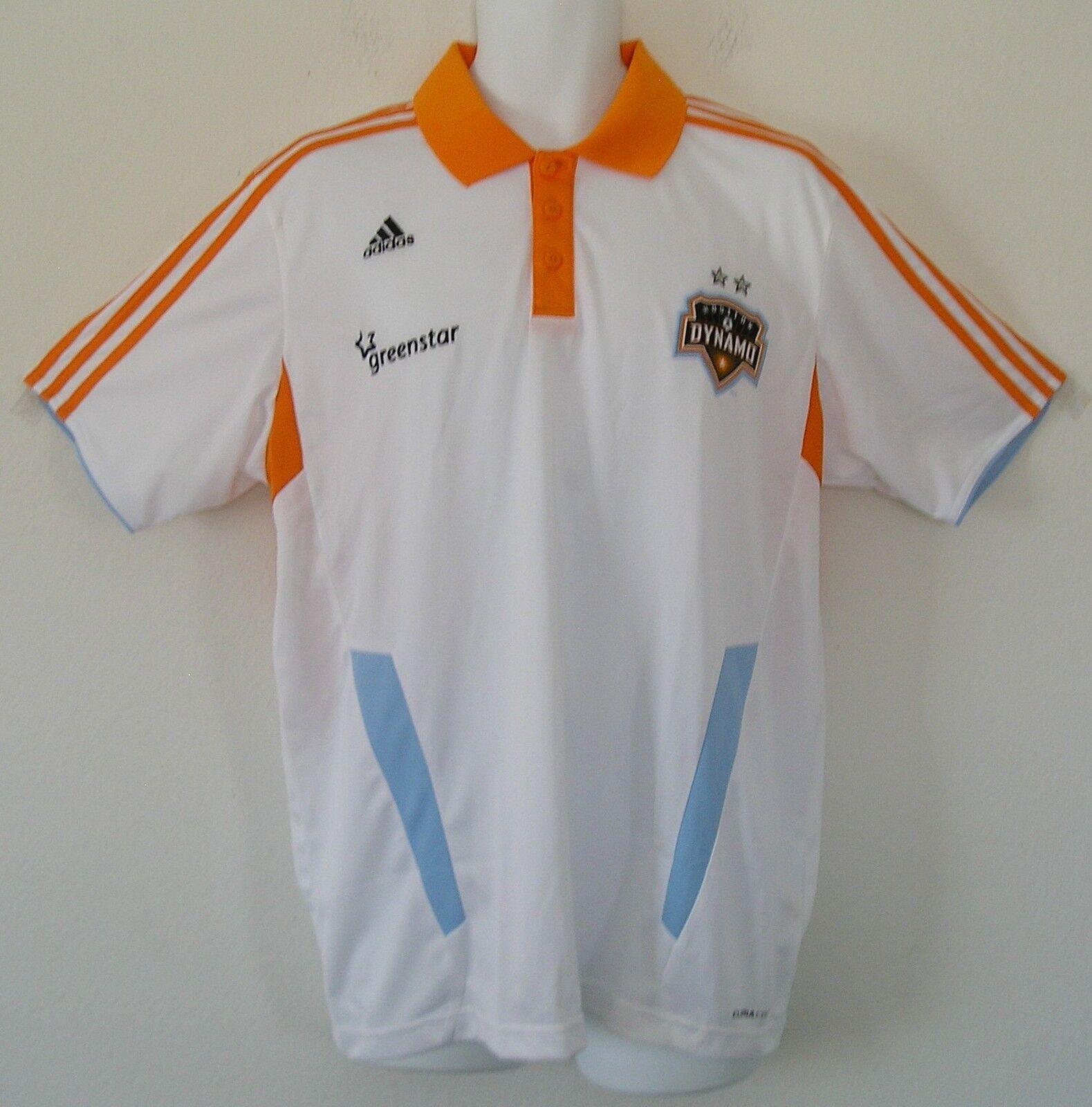 NwtAdidas HOUSTON DYNAMO CLIMACOL POLO Jersey Soccer USA MLS Shirt TopMen sz L