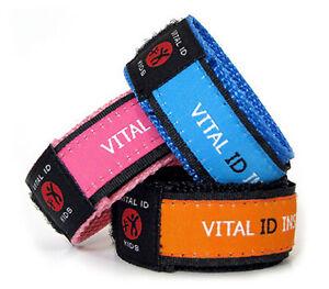 Kids Child Id Adjustable Safety Alert Id Bracelet 7 Fun