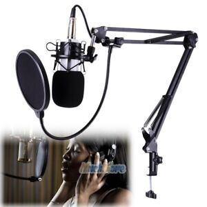 PROFESSIONAL-Condenser-Microphone-with-Mic-Suspension-Scissor-Arm-Stand-Kit-USA