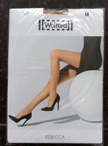 Rebecca Sahara neri punti Gorgeous Bnwt Calze Wolford a rete Sexy medio con wXccq5HBxz