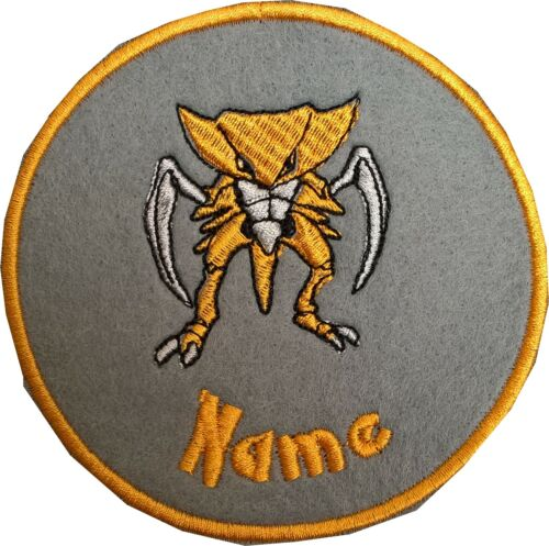 Pokemon Personalised Embroidered Sew on//Iron on Name Badge Patch Size 97x95 mm