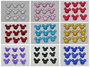 50-Flatback-Resin-Dotted-Rhinestone-Gems-Mouse-Face-14X12mm-Color-for-Choice