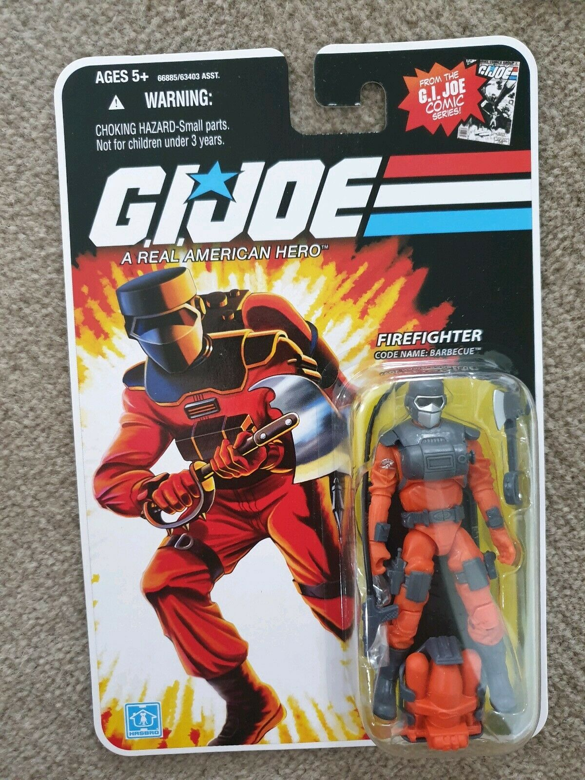 GI Joe 25th firefighter barbecue fireman fire fighter
