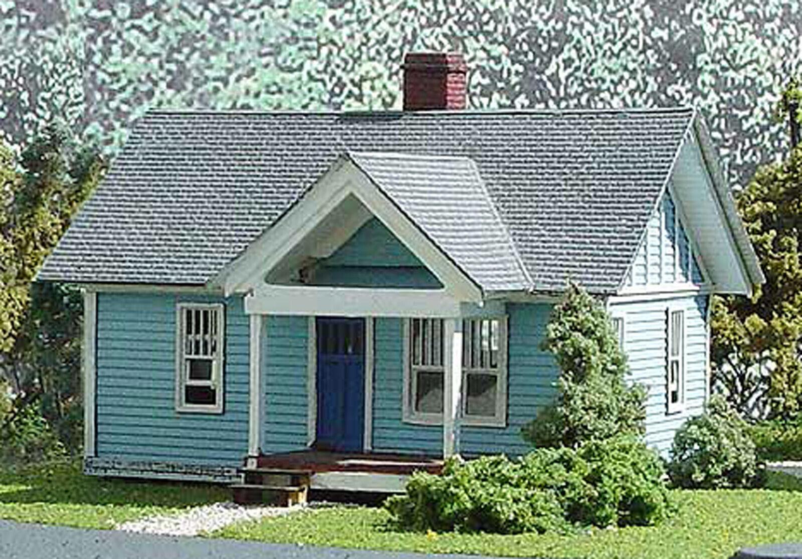 STANLEY HOUSE HO Model Railroad Structure Unpainted Laser-Cut Wood Kit LA628