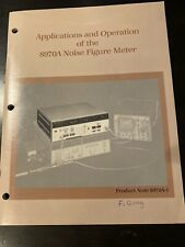 Hp 8970a Noise Figure Meter Applications Amp Operation Manual Pn 5952 8254