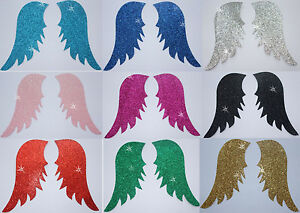 FABRIC-GLITTER-ANGEL-FAIRY-WING-A-IRON-ON-HOTFIX-TSHIRT-TRANSFER-APPLIQUE-PATCH