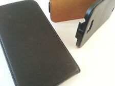 Samsung Galaxy Note 2 N7100 black GENUINE LEATHER flip case cover ii gt stand