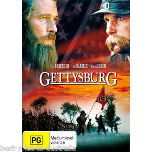 Gettysburg-DVD-TOP-1000-MOVIES-AMERICAN-CIVIL-WAR-BATTLE-HISTORY-BRAND-NEW-R4