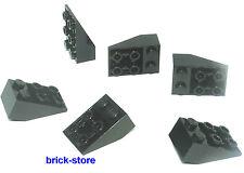 LEGO City / 2x3 nero Tegole / Mattoncini obliqui / 6 Pezzi