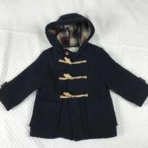 94820d616b58 Zara Baby Boy Outerwear Collection Hooded Duffle Coat Solid Dark ...