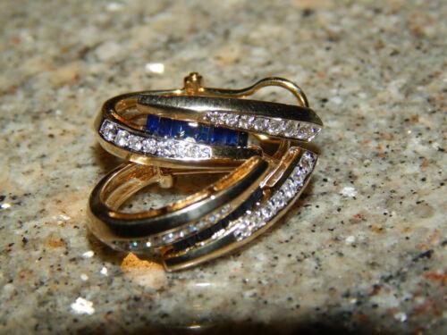 Details about  /14K Yellow Gold Finish 1.10CT Baguette Cut Blue Sapphire Women/'s Earrings