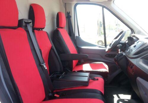 1 fundas para asientos con mesa referencia encaja perfectamente rojo para Ford Transit Custom 2013+ 2