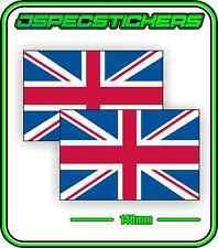 UK GREAT BRITAIN FLAG STICKER VINYL DECAL COUNTRY WINDOW BUMPER x2 140mm BNIP