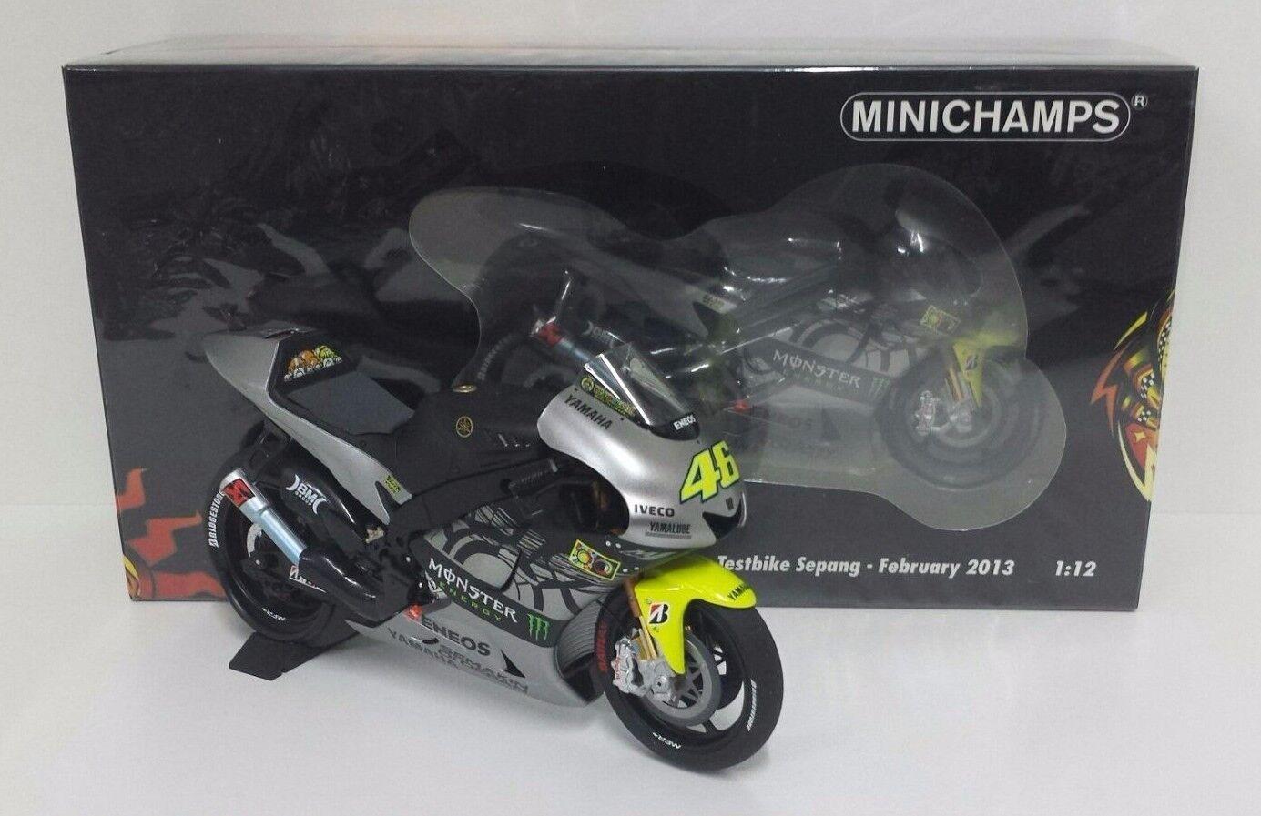MINICHAMPS VALENTINO ROSSI 1 12 MODELLINO YAMAHA YZR M1 MOTOGP TEST SEPANG 2013
