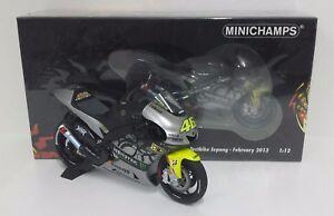 Minichamps Valentino Rossi 1/12 Modèle Yamaha Yzr M1 Test Motogp Septembre 2013