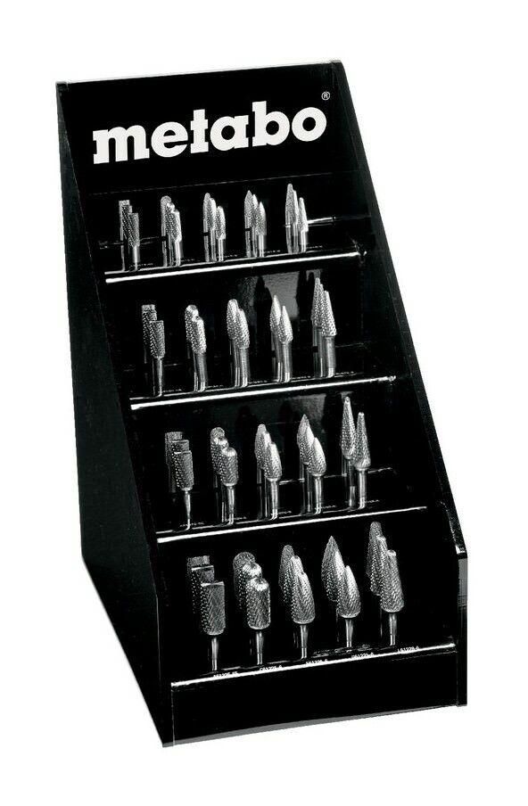 Metabo Hartmetall-Fräser-Display Schaft 6mm 40-teilig - 628405000