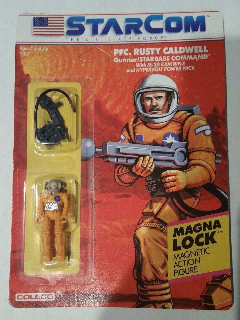 Vintage 1986 StarCom Coleco PFC Rusty Caldwell CASE Fresh