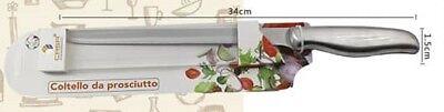 Amichevole Coltello Da Prosciutto 34cm Cucina Lama Acciaio Inox Manico Satinato Dfh