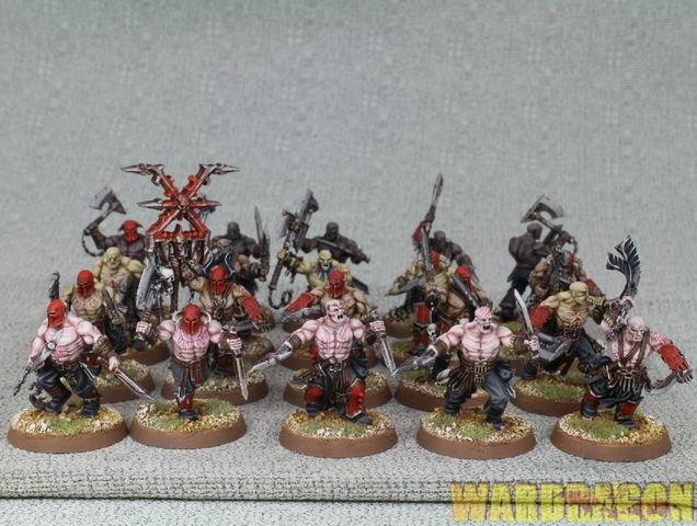 Warhammer edad de Sigmar Wds Pintado Khorne Bloodbound bloodreavers d21