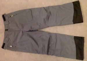 New-Boy-039-s-Grey-Ski-Trousers-Age-9-10-Crane-Grey-Black-Salopettes