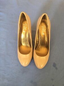 Blink-Ladies-Nude-Patent-Leather-Heels-Size-7-40-56C
