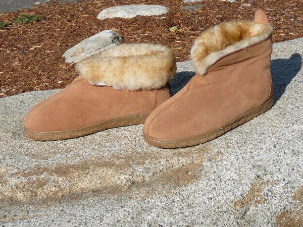 New Uomo Australian Sheepskin Slippers Suede Wool sizes 8 9 10 11 12 13 14