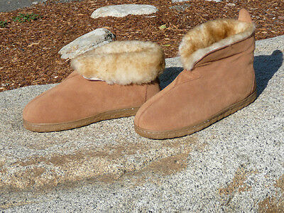 NEW MENS BEST COCOA SHEEPSKIN SOFT SOLE SLIPPERS SIZE 8 9 10 11 12 13 14 N0975-M