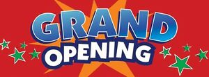 3ft x 8ft Grand Opening (starred) Vinyl Banner -Alt to Banner Flag 3'x8' (0020)