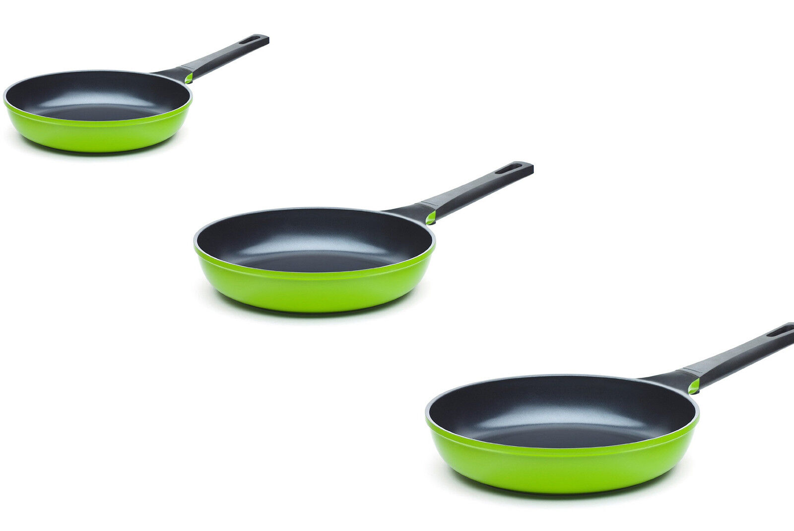 Ozeri 8 10 12 Inch Green Earth Smooth Ceramic Nonstick