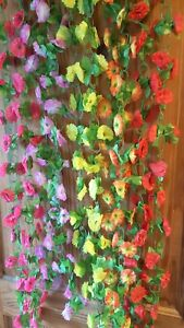 Joblot of 30 silk flower garland decorations new wholesale lot 15 image is loading joblot of 30 silk flower garland decorations new mightylinksfo