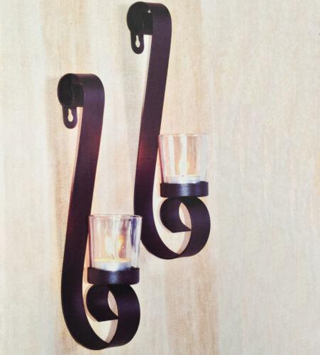 Décoratif Wandkerzenhalter pour lumignons 2er Set en métal pour lumignons