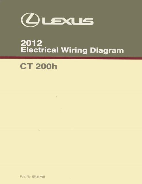 2012 Lexus Ct 200h Wiring Diagrams Schematics Layout