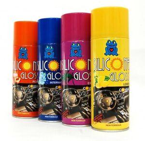 Eleccion-de-aromas-Coche-Dashboard-Brillo-Silicona-Brillo-cabina-Valeting-Spray-310ml