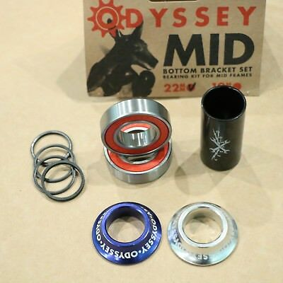 ODYSSEY BMX BIKE 19mm or 22mm MID BOTTOM BRACKET KIT BLUE BICYCLE BEARINGS