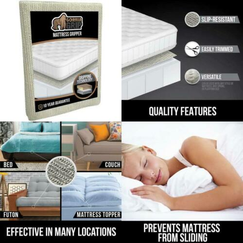 Stopper Slip Resistant Mattress Gripper Pad Helps Stop Bed Topper from Sliding