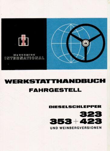 Werkstatthandbuch Fahrgestell für IHC Traktor 323