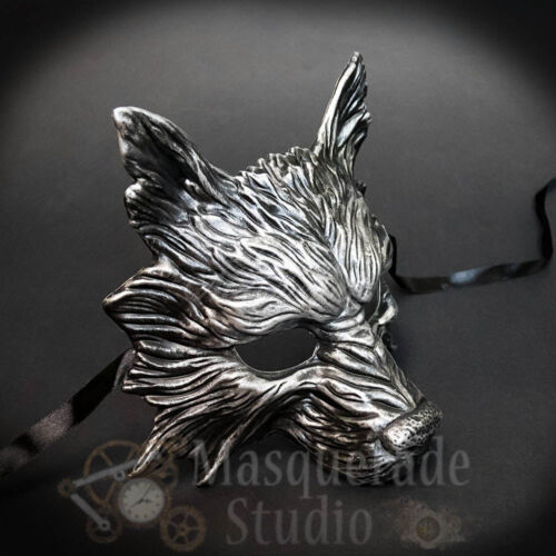 Wolf Animal Spirit Wall Decoration Costume Party Masquerade Mask [Silver]
