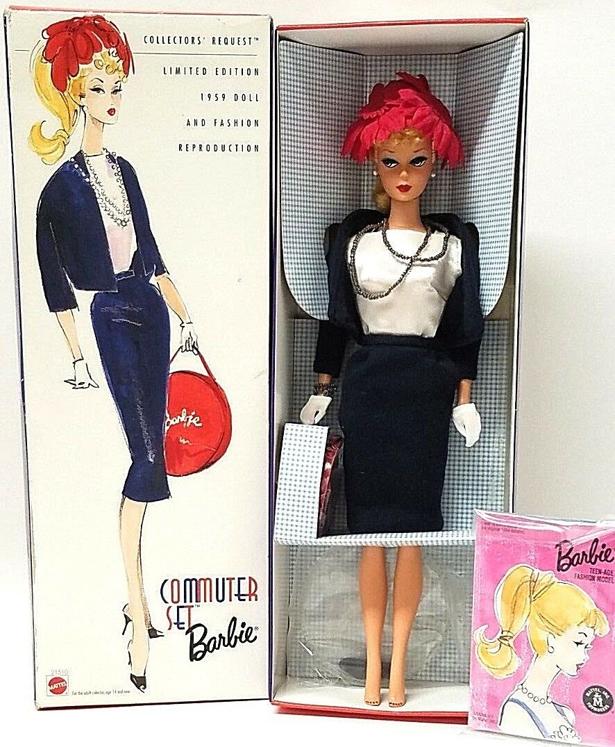 Barbie Commuter Set Collectors Request 1959 Doll Fashion Reproduction Ltd Ed NEW