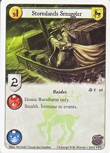 Details about 3 x Stormlands Smuggler AGoT LCG 1 0 Game of Thrones A Song  of Silence 65